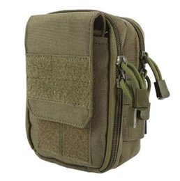 Wholesale 2017 New Tactical Military Hunting Small Utility Pouch Pack Army Molle Cover Scheme Field Sundries Bags Outdoor Sports Mess Briefcase