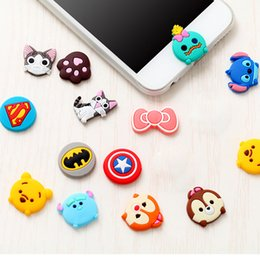 Wholesale Decorations For Iphone Button - Cartoon Home Button Stickers For iPhone 6S 6S Plus 5S 4S Sticker DIY Phone Decoration Sticker For Samsung