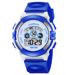 Wholesale Boys Electronics - 2017 New Small Sport Students Children Watch Kids Watches Boys Girls Clock Child Electronic LED Digital Wrist Watch for Boy Girl Gift