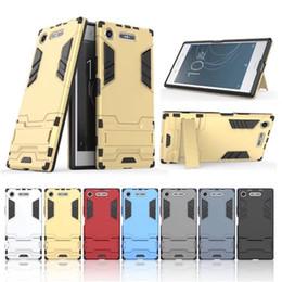 Argentina Iron Man Rugor Armor Heavy Duty Hybrid TPU + caja de PC para Sony Xperia X Compact XA XZ E5 Z5 premium XA1 XZ1 Suministro