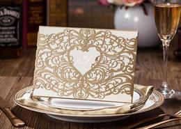Wholesale Envelope Birthday - Custom personalized gold Wishmade wedding invitation CW5018 with envelopes, seals, personalized printing, for wedding