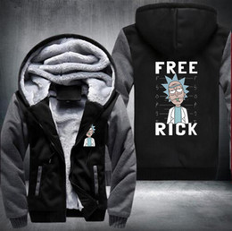 Wholesale Turtleneck Fleece Pullover - USA size,Rick and Morty Hoodie Logo Winter JiaRong Fleece Men's Fishing drive Sweatshirts Winter Outdoor sport sweatshirt warm Sportswear