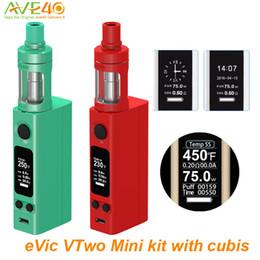 Wholesale Electronic Cigarette Joytech - Authentic Joyetech Evic vtwo Mini Cubis Electronic Cigarettes evic vtwo mini kit with 3.5ml Cubis Atomizer Tank vs Joytech evic vtc mini vt