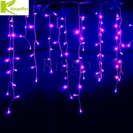 Wholesale 96 White Curtains Wedding - Wholesale- Connectable 3.5M 96 led curtain icicle string fairy lights Christmas lamps Icicle Lights Xmas Wedding Party Decor outdoor