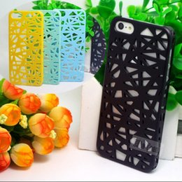 Wholesale Nest Phone Case - ATop Fashion 3D Hollow Bird Nest Snap Back Cover Cell Phone Shell Cases For iPhone 5 iPhone 5S iPhone5 5S Case 1PCS-&&& KSKKK333