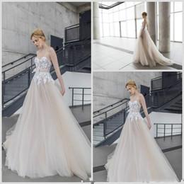 Wholesale Empire Waist Organza Dress - 2016 Romantic Bridal Gowns Sheer Spring Summer Empire Waist Wedding Dresses Backless Lace Appliques Sweetheart Long Vestido De Noiva DF