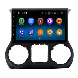 """Wholesale Dvr Jeep - 10.2"""" Android 7.1 System Car DVD GPS For Jeep Wrangler 2015 2016 Radio 2G RAM Quad Core RDS BT 4.0 WIFI 4G SWC OBD DVR Mirror Screen Touch"""