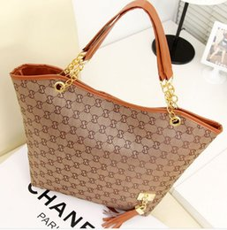 Wholesale Beige Bags Hobo - new Han edition single shoulder bags handbag tassel pendant printed big bag ladies handbags Shoulder Bags Fashion Bags