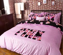 Wholesale Plain Fleece Fabric - Wholesale- Victoria Leopard pink bed linen fleece juego de cama sabanas velvet thick 4 pcs flannel bedding set winter