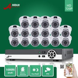Wholesale 16ch Dvr System - ANRAN 16CH HDMI 1080N DVR 16PCS 720P Waterproof HD Home CCTV Security Camera System Surveillance Kit