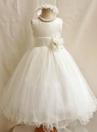 Wholesale First Zipper Made - Jewel Neck Organza Ball Gown Flower Girl Dress For Wedding 2018 First Communion Dresses For Girls Zipper Back