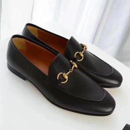 Wholesale Wedges Red Low - New 2017 mens round toe Original bottom loafers,designer brand black patent leather business wedding dress shoes,fashion men oxfords