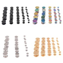 Wholesale Wholesale Fake Gauges - 6-14mm Ear Plugs Tunnels Gauges Fake Ear Stud Stretcher Earring Piercing Stainless Steel Body Jewelry 10Pcs HOT[BB158-BB161*10]