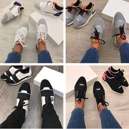 Wholesale Box Closing - 2017 High Quality Race Runner Shoes Woman Casual Shoe Man's Fashion Colorful Patchwork Mesh Mixed Colors Trainer Sneakers With Box Size 46