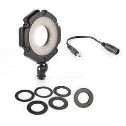 "Wholesale Led Ring Light For Video - LED Macro Ring Flash Video DV Light w 6 Rings 1 4""Mount Hot Shoe For DSLR Camera"