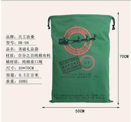 Wholesale Wholesale Drawstring Coat - 2016 Hot!!! 12 style Large Canvas Monogrammable Santa Claus Drawstring Bag With Reindeers Monogramable Christmas Gifts Sack Bags (DHL Free)