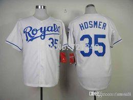 Wholesale City Retail - 2016 New Retail Factory Price Best 35 Eric Hosmer Jersey 2014 Baseball Kansas City Royals Jersey Blank Blue Royal Home Road Hosmer Jersey