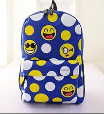 Wholesale Nylon Zipper Manufacturers - @AA698 Free shipping manufacturers selling 2016 fashion nylon backpack Graffiti bag tide female cartoon smiling face students travel bag