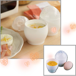 Wholesale Microwave Eggs - 2017 Practical White Microwave Oven Cup Poacher For Various Ways Of Cooking Quick Eggs Cooker