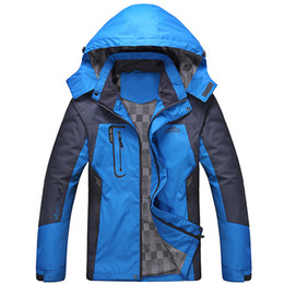 Wholesale Outdoor Hiking Jacket - Wholesale-2016 Winter Outdoor Brand Softshell Jacket Men Hiking Jacket Waterproof Windproof Thermal Jacket Outdoors Hiking Camping Ski
