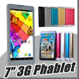 "Wholesale Mtk Tablet Phone - DHL 7"" 7 inch 3G phablet Phone Call Tablet PC MTK6572 Dual Core Android 4.4 Bluetooth Wifi 512MB 8GB Dual Camera SIM Card GPS B-7PB"