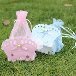 2019 favores para bebês Sacos do presente do chuveiro de bebê das decorações do casamento Sacos dos favores do chuveiro de bebê com os pés do bebê decorativos favores para bebês barato