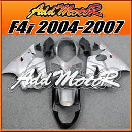 Wholesale Gray F4i Fairings - Addmotor Bestselling Injection Mold Fairings Fit Honda CBR600F4i 2004-2007 CBR600 F4i 04-07 Brand New Gray Silver H6420 +5 Free Gifts