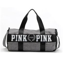 Wholesale Wholesale Pink Canvas Bags - Canvas secret Storage Bag organizer Large Pink Men Women Travel Bag Waterproof Casual Beach Exercise Luggage Bags DHL free shipping