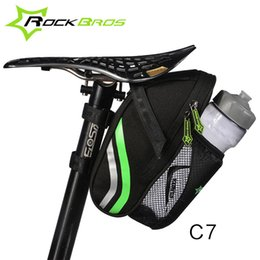 Wholesale Bike Bag Back - ROCKBROS Bicycle Bike Rear Bag Rainproof Nylon Bike Saddle Bag Outdoor Cycling Mountain Bike Back Seat Tail Pouch Package