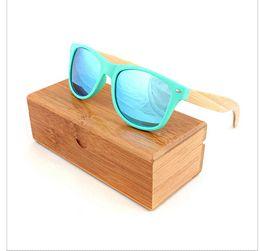 Wholesale Cheap Wood Sunglasses - Multi sunglasses women brand designer Plastic Bamboo Leg Sunglasses Polarized Mirror Lenses Wood Sun Glasses Cheap glasses wallet