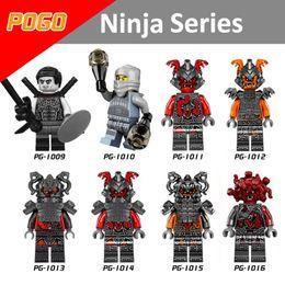 Wholesale Mini Ninjas - 120pcs Mix Lot Ninja Series Minifig NEURO ASH KAI COLE JAY NYA Pythor BOLOBO ZANE Sensei Wu Lloyd PG8055 Mini Building Blocks Figures Toy
