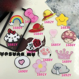 Wholesale Clothing Gift Packaging - Wholesale- Acrylic Brooches Hat Rainbow Badge Clouds Crown Brooch Rose Star Pins For Clothes Shoes Package Women Men Jewelry Christmas Gift