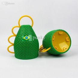 Wholesale Plastic Sports Horn - 2016 Wholesale 500pcs lot New Brasil World Cup Fans Horn Caxirola New Vuvuzela Official Football Games Cheering Props ,Brazil Soccer World