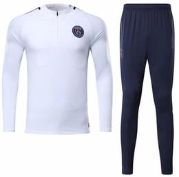 Wholesale Jersey Pant Kit - 2017 trainingsuit kits NEYMAR JR tracksuit jacket longsleeve soccer Jersey pants DI MARIA CAVANI VERRATTI LUCAS PASTORE CPSGEN MATUIDI