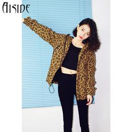 Wholesale Woman Leopard Fleece Jackets - Wholesale- New Fashion 2016 Spring Autumn Women Ladies Leopard Hooded Fleece Jacket Zip Up coat female Outerwear Plus Size High Quality