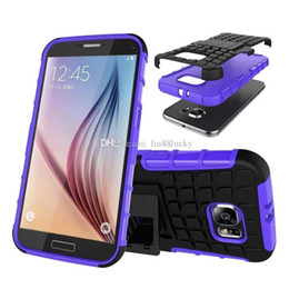 Wholesale Galaxy S3 Mini Pc Case - Hybrid Kickstand 2 in 1 Hard Pc+Soft Tpu Shockproof case for Samsung Galaxy S3 S4 S5 mini S6 edge S7 Plus cover