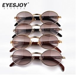 Wholesale Metal Frame Carved Designs Wooden Sunglasses Brands Glasses Hot Selling Full Rim Retro Glasses Sunglasses for Women Men CT53