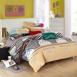All'ingrosso-Tessili per la casa Neighbor Totoro modello Bedding Set 3 / 4pcs Stampa Biancheria da letto Copripiumino Lenzuolo Biancheria da letto Pillowcas da