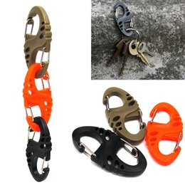 Wholesale Paracord Carabiner - 3 Colors S-Biner Clip Keychain For Paracord Bracelet Carabiner 8 Shape Bag Parts Climbing Hike Bulk Buckle Quickdraw EDC Tool Camping