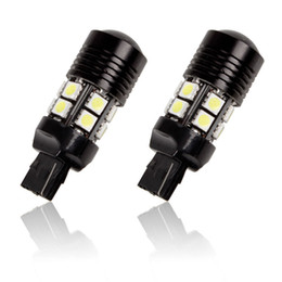 Wholesale H11 Led Bulb Cree - T20 7440 7443 1156 1157 led fog driving lights White T25 3156 3157 CREE R5 12 SMD 5050 LED Light Bulbs