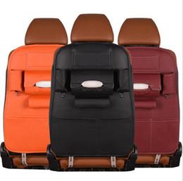 Wholesale Seat Boy - Multi-functional Car back hanging storage bag PU leather Car seat organizer Car seatback hanger bag organizer