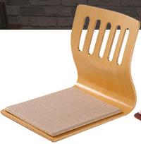 Wholesale Wholesale Wood Chairs - (4pcs lot) Japanese Traditional Furntiure Living Room Floor Chair natural color Legless Zaisu Tatami Legless Designer Chair