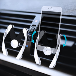 2019 carro projetado do suporte do iphone Ventilação do carro Suporte Do Telefone de Montagem 'M' Design 360 ° Girar À Prova de Choque Stand de 6 Polegada Do Telefone Móvel Universal para o iPhone 8 Samsung S8 desconto carro projetado do suporte do iphone