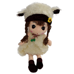 Wholesale Beautiful Baby Toys - Wholesale- MYMF Best Sale Girl Doll Plush Toys Beautiful Dolls for Girls Best Gift-white 40cm