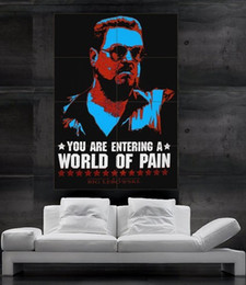 Wholesale The Big Lebowski Poster giant Dude John Goodman walter Sobchak you are entering a world of pain parts NO219