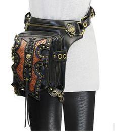 Wholesale Steam Belt - women Steam punk Holster Protected Purse Shoulder carteras mujer thigh Motor leg bag belt bag men package Outlaw Pack