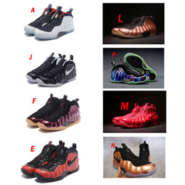 Wholesale Pearls Cultured Grey - 2017 New Air Penny Anfernee Hardaway Men Basketball Shoes Pearl Royal Camo Eggplant Metallic Gold Copper Galaxry One Training Sports Sneaker