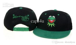 Wholesale Cartoons Snap Caps - Mix order Kids Cartoon Frog Snapbacks Green Black Hats fitted cap Popoular Youth Caps Snap Back