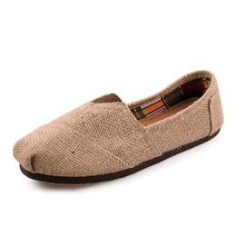 Wholesale Women Canvas Platform - 2016 Free Shipping Linen Multi Casual Fashion Women men Shoes Flat Platform Lazy Breathable Espadrilles Canvas Shoes shoe 2colors