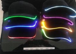 Wholesale Multi Grill - LED Light Snapback Adjustable Hip Hop Hats Men Women with Led Flash Light Novelty Led Cap for Hunting Camping Grilling Jogging Walking
